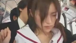asian teen schoolgirl groped in bus