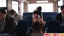 Aino Kishi gets dick of stranger in bus