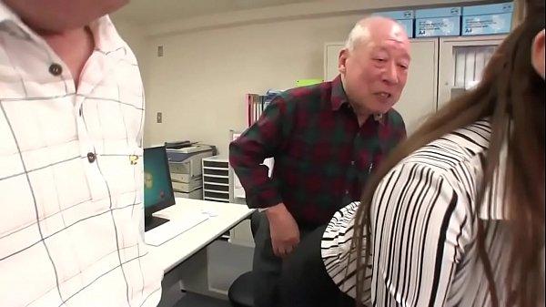Old men fucking a hot japanese secretary
